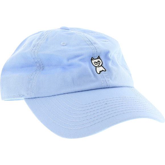 Meow Unstructured Mini Cat Skate HAT - Adjustable Baby Blue