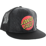 Santa Cruz Classic Dot Mesh Skate HAT - Adjustable Black Dye Denim | Universo Extremo Boards Skate & Surf