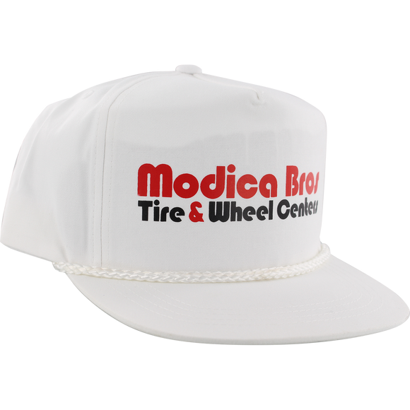 Send Help Modica Bros Poplin Skate HAT - Adjustable White