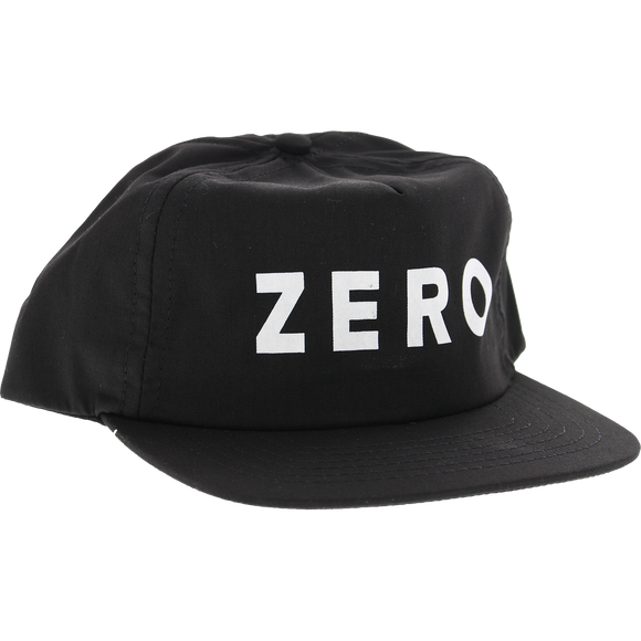 Zero Army Skate HAT - Adjustable Black/White