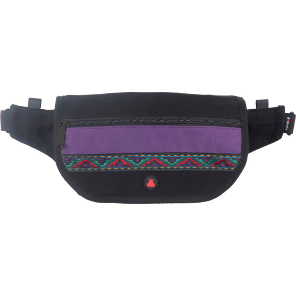 Bumbag Java Folder Cross Body Bag Black/Purple Fanny Pack