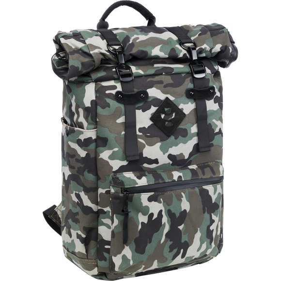 Revelry Drifter Rolltop Backpack 23L Black Camo/Black