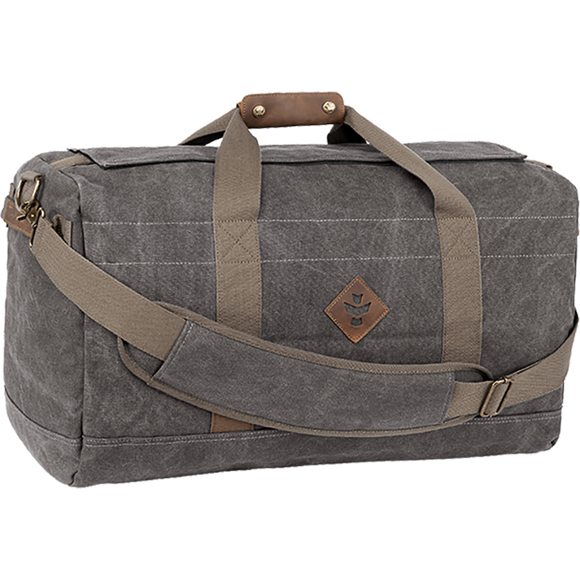 Revelry Around-Towner Duffle 72L Smoke Canvas Ash Duffle Bag