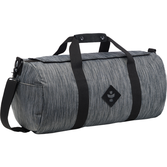 Revelry Overnighter Duffle Bag 28L Striped Grey Duffle Bag