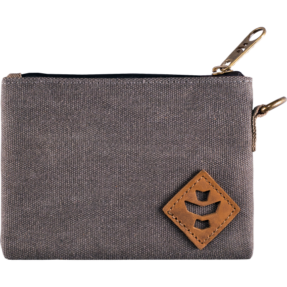 Revelry Mini Broker Zippered Money Bag Ash Grey Money Bag