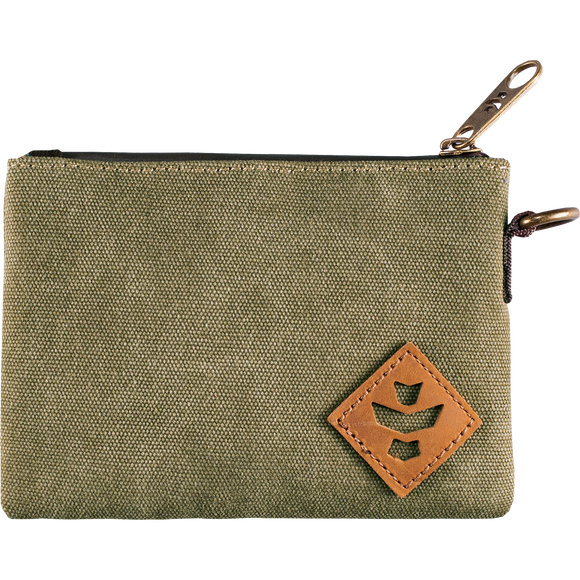 Revelry Mini Broker Zippered Money Bag Sage Money Bag