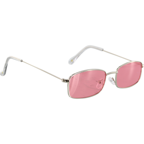 Glassy Rae Silver/Pink Mirror Sunglasses Polarized