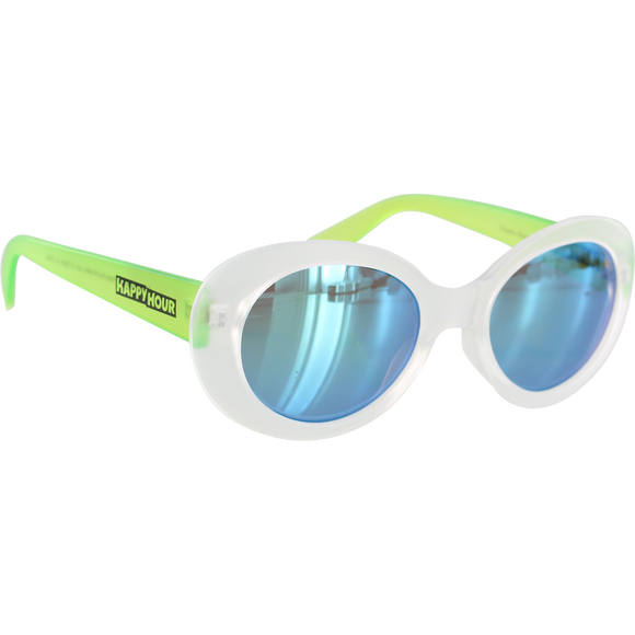 Happy Hour Beach Party Sunglasses Shocking Green