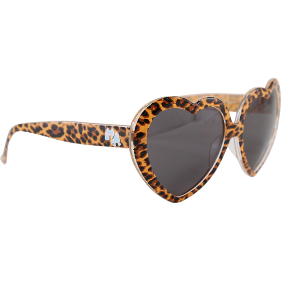 Happy Hour Heart On Sunglasses Leopard