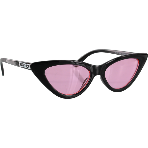 Happy Hour Space Needle Sunglasses Black/Pink