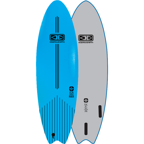 "O&E Ocean & Earth Ezi-Rider Softboard 5'6"" Blue - Surfboard"