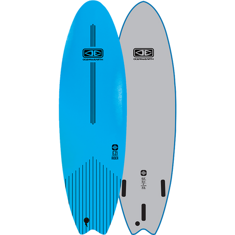 "O&E Ocean & Earth Ezi-Rider Softboard 6'6"" Blue - Surfboard"