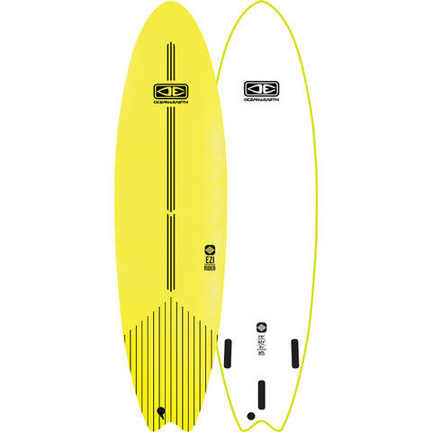 "O&E Ocean & Earth Ezi-Rider Softboard 7'0"" Lime Electric Yellow - Surfboard"