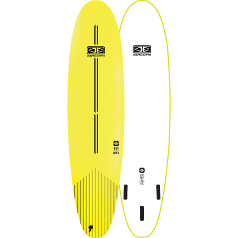 "O&E Ocean & Earth Ezi-Rider Softboard 7'6"" Lime Electric Yellow - Surfboard"