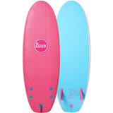 "Penny Softboard 4'10"" Twin Fin Neon Sunset Pink/Blue - Surfboard"
