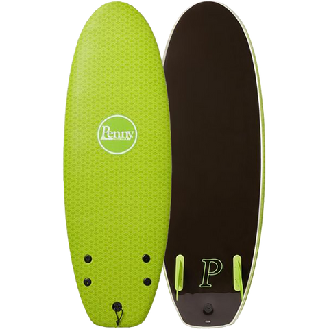 "Penny Softboard 4'10"" Twin Fin Teenage Mutant Green - Surfboard"