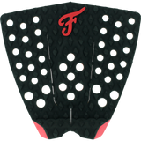 Famous Bondi Black/Red Surfboard Traction Pad - 3 PIECE | Universo Extremo Boards Surf & Skate