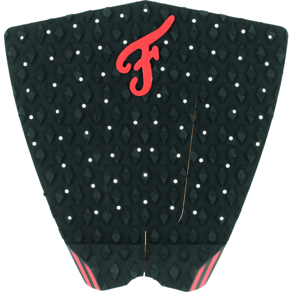 Famous Fillmore Black/Red Surfboard Traction Pad - 3 PIECES | Universo Extremo Boards Surf & Skate