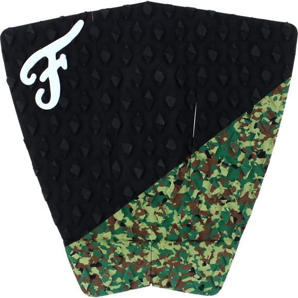 Famous Port Black/Camo Surfboard Traction Pad - 3 PIECES | Universo Extremo Boards Surf & Skate