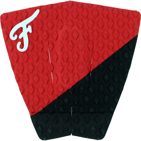Famous Port Black/Red Surfboard Traction Pad - 3 PIECES | Universo Extremo Boards Surf & Skate