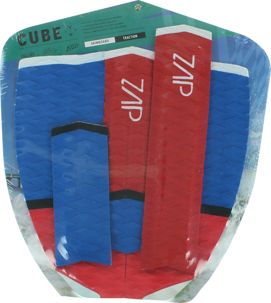 Zap Cube Tail and Arch Bar Traction Pad Set Blue/Red/White | Universo Extremo Boards Surf & Skate