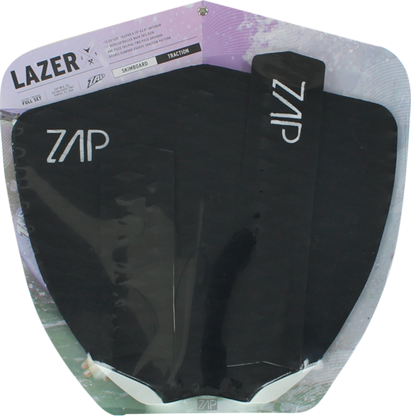 Zap Lazer Tail and Arch Bar Traction Pad Set Black | Universo Extremo Boards Surf & Skate