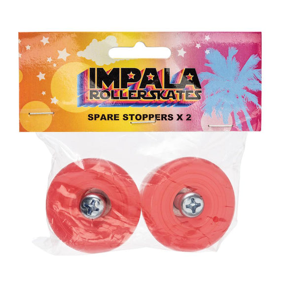 Impala Skate Spare Stoppers 2 Units Red