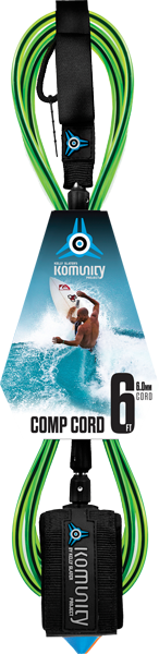 Komunity Project 6' Comp Surfboard Leash 6mm -  Lime  | Universo Extremo Boards Surf & Skate