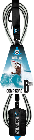 Komunity Project 6' Comp Surfboard Leash 6mm -  Black  | Universo Extremo Boards Surf & Skate