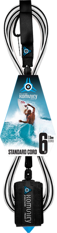 Komunity Project 6' Standard Surfboard Leash 7mm -  Black  | Universo Extremo Boards Surf & Skate