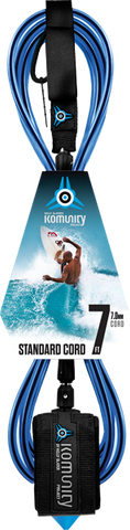Komunity Project 7' Standard Surfboard Leash 7mm -  Blue  | Universo Extremo Boards Surf & Skate