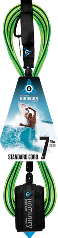 Komunity Project 7' Standard Surfboard Leash 7mm -  Lime  | Universo Extremo Boards Surf & Skate