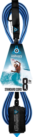 Komunity Project 8' Standard Surfboard Leash 7mm -  Blue  | Universo Extremo Boards Surf & Skate