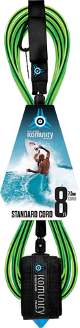 Komunity Project 8' Standard Surfboard Leash 7mm -  Lime  | Universo Extremo Boards Surf & Skate
