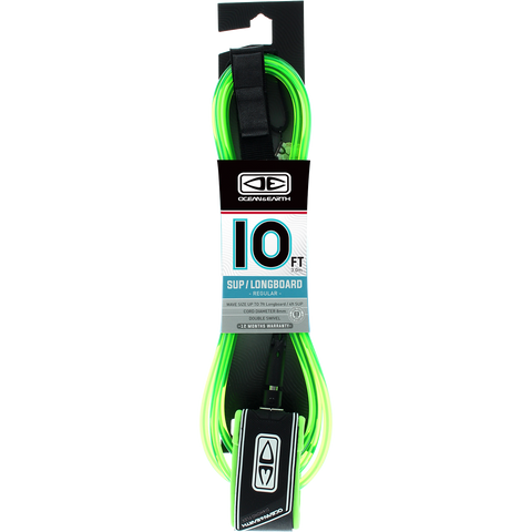 O&E Ocean & Earth Regular Sup/Lb Leash 10' Lime