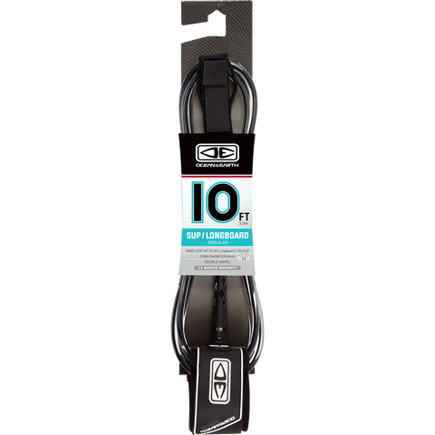 O&E Ocean & Earth Regular Sup/Lb Leash 10' Black