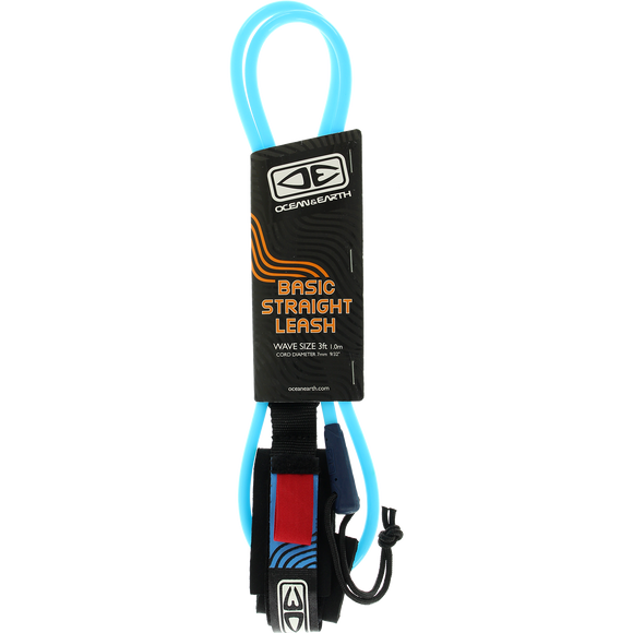 O&E Ocean & Earth Bodyboard Basic Wrist Straight Leash Blue