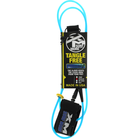 Surf More XM Tangle Free Ds Regular Leash 12' Blue