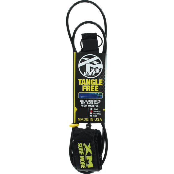 Surf More XM Tangle Free Ds Regular Leash 12' Black