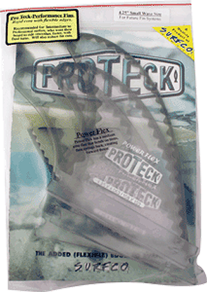 Proteck Pwr-Flex Ffs Thruster 4.25 Clear/Black Surfboard FIN  -  SET OF 3PCS