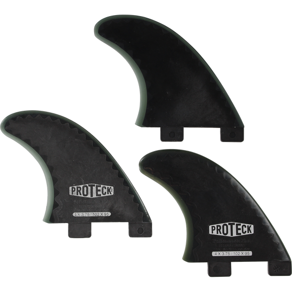 Proteck Perform Fcs Grom Thruster Set 4.0 Black Surfboard FIN  -  SET OF 3PCS