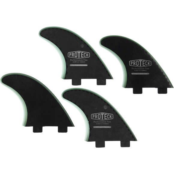 Proteck Perform Fcs Sup Quad 4.5 Black Surfboard FIN  -  SET OF 4PCS