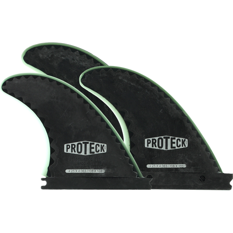 Proteck Perform Ffs Thruster 4.25 Black Surfboard FIN  -  SET OF 3PCS