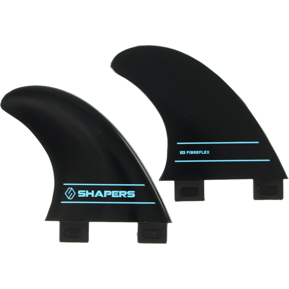 Shapers Australia S-2 Fcs Side Bite Black Set 2pc Surfboard FIN  -  SET OF 2PCS