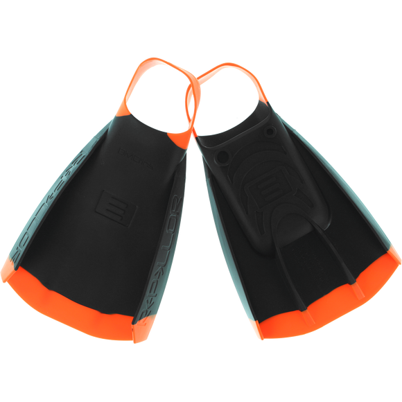 Dmc Repellor Swim Fins L-Black/Orange (Size10-11)