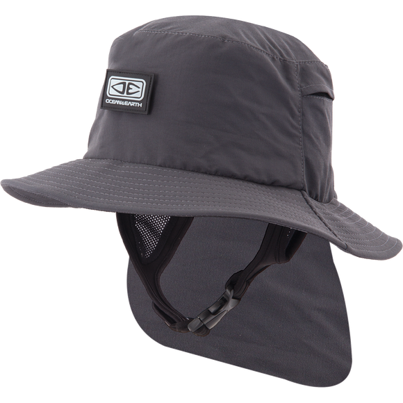 Ocean and Earth Boys Indo Stiff Peak Surf HAT - Youth-Black
