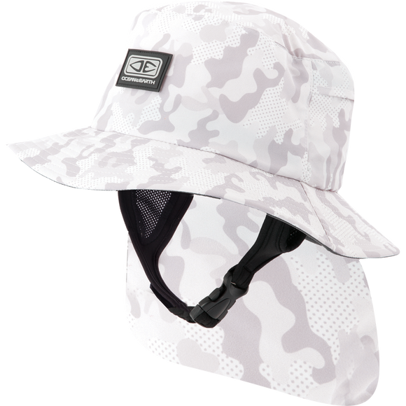 Ocean and Earth Boys Indo Stiff Peak Surf HAT - Youth-Camo