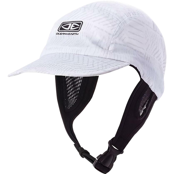 Ocean and Earth Mens Ulu Surf Cap Adjustable White