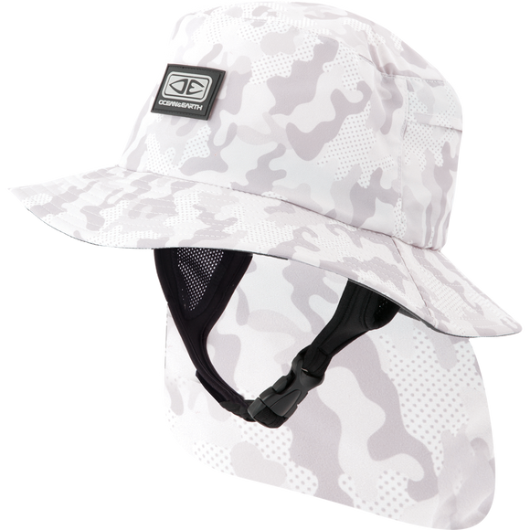 Ocean and Earth Mens Indo Stiff Peak Surf HAT - S-Camo