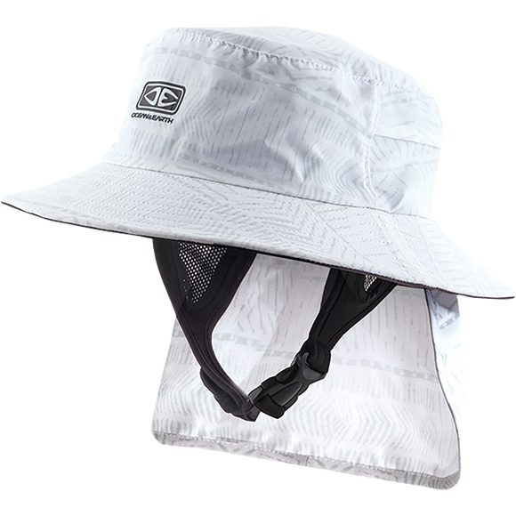 Ocean and Earth Mens Indo Stiff Peak Surf HAT - M-White